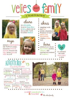 We really like how this card highlights each sibling and the parents!  People want to know what's going on with everyone, not just the kiddos.