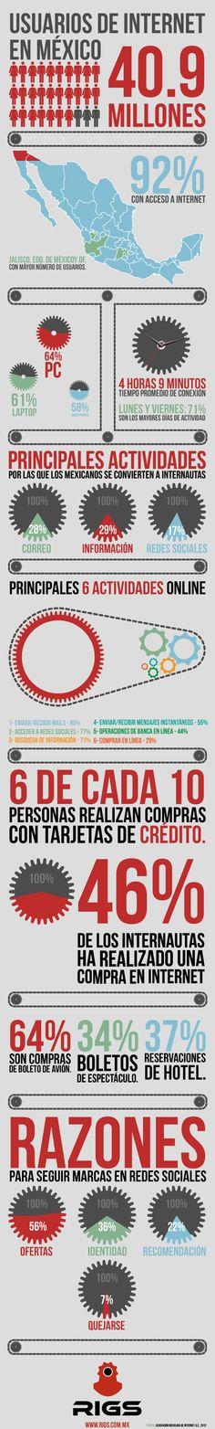 Infographic sobre los usuarios de internet en México