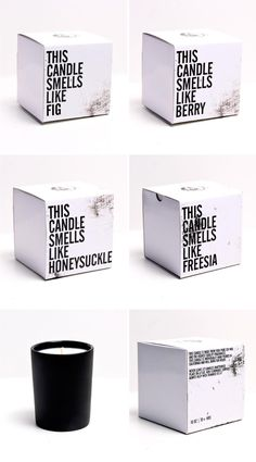 candle packaging.  short sweet and to the point