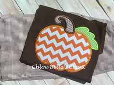 Need to remember this  Boys Brown Pumpkin Shirt by juliesonny on Etsy, $24.99