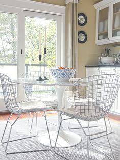 Wire Chairs | Eat-in Kitchen | Eero Saarinen | Tulip Table | Dining Room Ideas