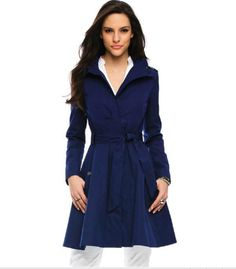 armani exchange blue trench