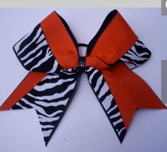 Orange & black cheer bow