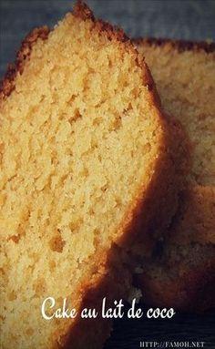 Easy recipe coconut milk cake – About Dessert World Desserts With Biscuits, Köstliche Desserts, Sweet Recipes, Cake Recipes, Dessert Recipes, Coconut Milk Cake Recipe, Jaffa Kuchen, Cake Au Lait, Nake Cake