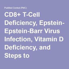 CD8+ T-Cell Deficiency, Epstein-Barr Virus Infection, Vitamin D Deficiency, and Steps to Autoimmunity: A Unifying Hypothesis