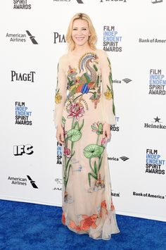 Cate Blanchett in Gucci at the Independent Spirt Awards 2016