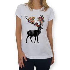 Camiseta Spring Itself Deer Floral de @tobefonseca | Colab55