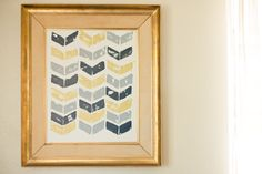"""Chevron art with potatoes. I appreciate that I wouldn't have to go spend $50 at Michael's for """"bargain"""" DIY art."""