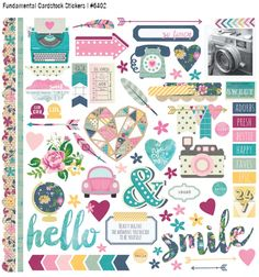 Can't wait to decorate my planner and do some major scrapping with this line!