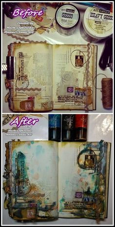 ART JOURNAL PAGE | HEART | Nika In Wonderland Art Journaling and ...