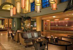 Swan Lobby--great pendant light fixtures.