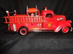 Vintage Fire Engine Model Truck Tin Metal South Prairie WA