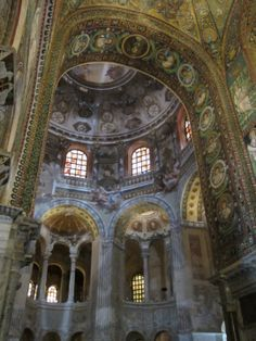 View of Presbytery Arch Mosaics, San Vitale, Ravenna