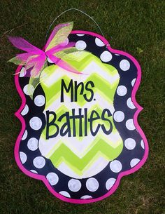 Welcome Door Hanger, Teacher Door Hanger, Teacher Appreciation on Etsy, $40.00