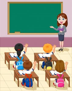 Cartoon Little Kid A Study In The Classroom Royalty Free Cliparts, Vectors, And Stock Illustration. Classroom Background, Kids Background, Classroom Rules, School Classroom, Teacher Cartoon, School Cartoon, Teacher Picture, Picture Comprehension, School Clipart