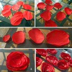 Tissu Synthétique, Fleur En Tissu, Tissu Satin, En Tissus, Fleure En, Tutoriel Bouquet, Créer Des Fleurs, Fleurs Textiles, Mariage Shabby