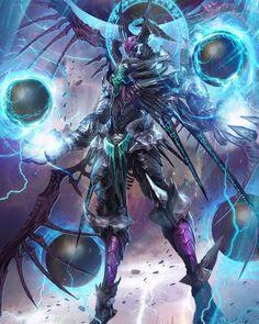 Yinsjui N°10 forma de vida extraterrestre con un 80% de similitud con los insectos, grandes conocimientos magicos. -Resistencia: su fuerte quitina le protege frente a golpes mortales normales, mental superior+. -Poderes: magias, prefiere el rayo, y capaz de crear pequeños portales de gusano. -Debilidades: ataques hipermortales, armas de acero deldrimor, venenos++: