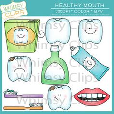 Healthy Mouth Clip Art.... Whimsy Clips!
