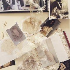 Creative chaos- heaven! #inspiration #Bridal #bespoke #taradeighton #wedding #vintage #Lace