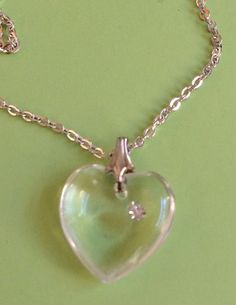 Heart with Crystal Necklace by joytoyou41 on Etsy