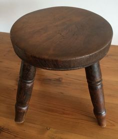 Antique/vintage Wooden Milking Stool Milking Stool, Stools, Antiques, Vintage, Furniture, Ebay, Home Decor, Homemade Home Decor, Antiquities