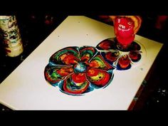 4 Flowers- acrylic/fluid pour painting by AlleyVision - YouTube