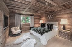 One of the 5 bedrooms in the time-honored Tyrolean tradition house - Best Interior Design Ideas Dream Teen Bedrooms, Dream Bedroom, Home Bedroom, Bedroom Decor, Room Interior, Interior Design Living Room, Chalet Design, Contemporary Home Furniture, Cabin Homes
