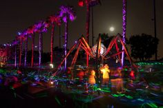 Electric Alien Bamboo Bugs at Electric Run - Los Angeles - 2013 by Gerard Minakawa http://www.electricrun.com