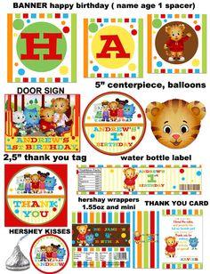 DIY Printable Personalized Daniel Tiger Birthday by sohappyshop