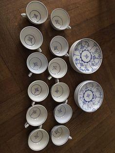 12 tasses et assiettes Boch - Slovensko - House & Garden