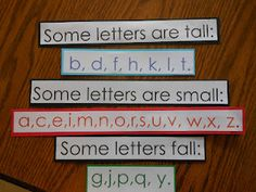 Letters Pocket Chart {FREE}. Great to have at the beginning of the school year. Would be great to make them bigger and have as a poster display in the classroom.