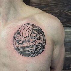 For @Yevgueniy ⚽️ #sashatattooing #linework #tattoo #love #wavetattoo #spb #zenit
