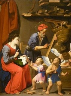 The Holy Family in St. Joseph's Workshop - Carlo Saraceni