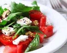 Salade brûle-graisse en duo de tomates et pastèque à la feta Croq'Kilos