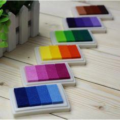 1 UNIDS 6 Almohadilla de Tinta sello almohadilla de Tinta de Colores de Dibujos Animados de estilo Artesanal de Huellas Dactilares Inkpad para DIY divertido set de trabajo Scrapbooking Accesorios