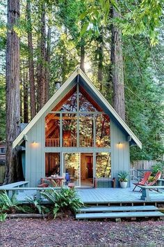 Best Tiny House, Tiny House Cabin, Tiny House Living, Tiny House Design, Tiny Houses, Log Houses, Living Room, Cabin Homes, Apartment Living