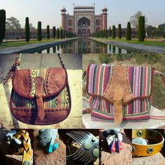 Torres and juna bags from nepal. Available on himalayantreasuretrove.moonfruit.com  Made from buffalo leather and traditional nepalese fabric
