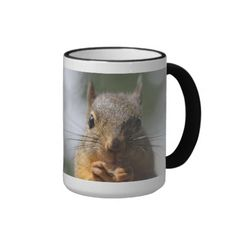 SOLD! Cute Squirrel Smiling Photo Mug by FunNaturePhotography on Zazzle. #squirrels #mugs
