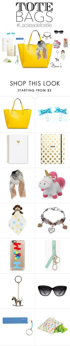 """""""MomToteBagLacasadellostile"""" by lacasadellostile ❤ liked on Polyvore featuring Merona, Sugar Paper, Kate Spade, Nordstrom, Lambs and Ivy, Believe In, Casetify, Dsquared2, RED Valentino and Elizabeth and James"""