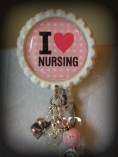 I love nursing badge holder via Etsy.