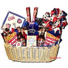 Go Cubbies! Chicago Cubs Gift Basket | Projects | Pinterest ...