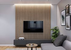 Cool bedrooms with tv wall design ideas 00011 Timber Feature Wall, Feature Wall Living Room, Tv On Wall Ideas Living Room, Tv Feature Wall, Feature Wall Design, Living Room Interior, Home Living Room, Living Room Decor, Home Room Design
