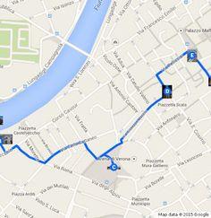 Abbiamo creato un percorso multimediale personale utilizzando google maps.. un giro ad esplorare la Bela Verona..