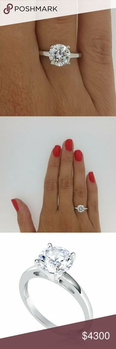 2.5 ct white gold solitare diamond engagement ring Super shiny super beautiful had for 3 months brand new Jewelry Rings