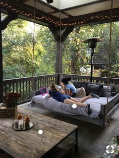 Porch bed swing - Would love this! Eloisa Valdez eloisa_valdez Patio Porch bed swing - Would love this! Eloisa Valdez Porch bed swing - Would love this! eloisa_valdez Porch bed swing - Would love this! Patio Porch bed swing - Would love this! Farmhouse Front Porches, Rustic Porches, Screened In Porch Diy, Back Porches, Rustic Patio, Farmhouse Windows, Rustic Outdoor, Back Yard Porch, Houses With Front Porches