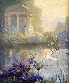 Ladies By A Gazebo ~ Abbott Fuller Graves ~ (American 1859-1936)