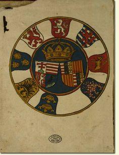 átyás király címerei  THURÓCZY, Johannes, Chronica Hungarorum, Augsburg 1488, metszet az elõzéklap verzóján  A Ráday Református Gyűjteményben őrzött színezett példányból (I 196)  A Ráday Gyűjtemény szíves engedélyével