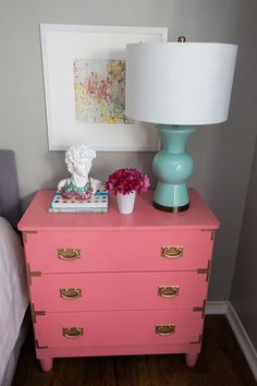 Teen Bedroom Ideas- gorgeous grown up teenage bedroom. love the coral and mint touches.