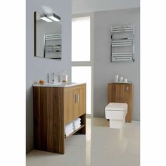 Lovely clean forms. Contemporary linear design bathroom from Phoenix, available form UK Bathrooms.  Phoenix Ilario Back to Wall Unit. Buy WC Units from UK Bathrooms