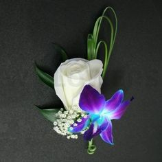 blue orchid boutonniere - Google Search